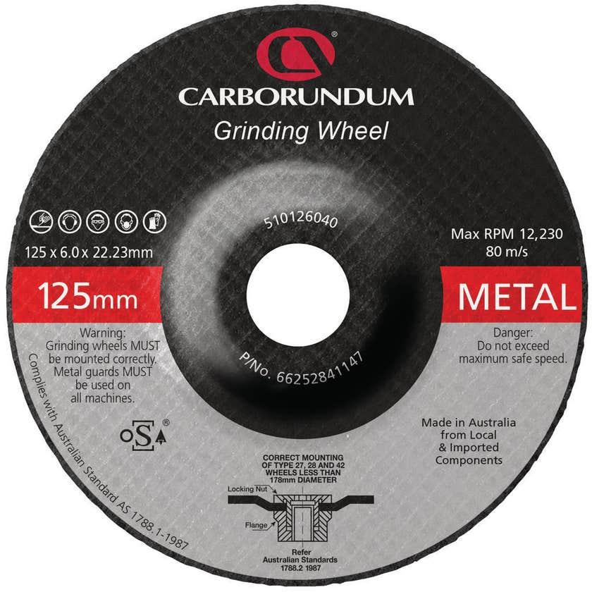 Carborundum Grinding Wheel 125 x 6 x 22mm