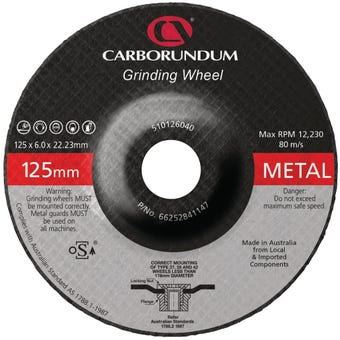 Carborundum Grinding Wheel 125 x 6 x 22mm