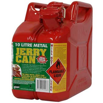 Pro Quip Metal Unleaded Jerry Can Red 10L