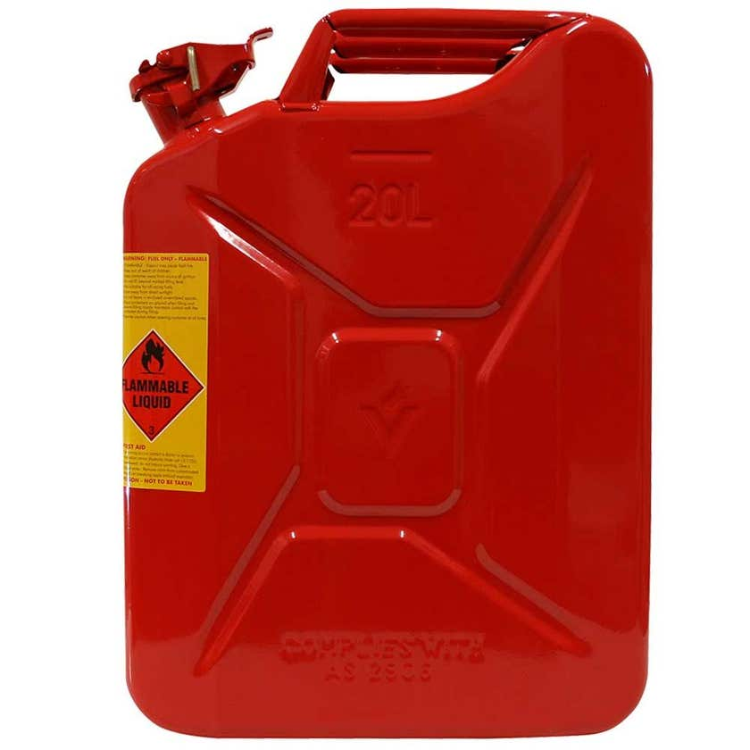 Pro Quip Metal Unleaded Jerry Can Red 20L