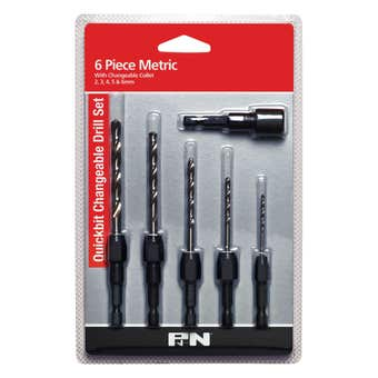 P&N Quickbit Changeable Drill Set Metric - 6 Piece