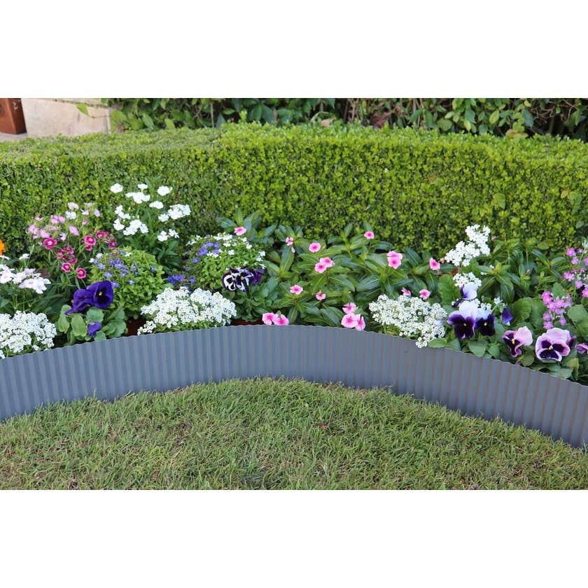 Greenlife Garden Edging Metal Slate Grey 6m x 150mm