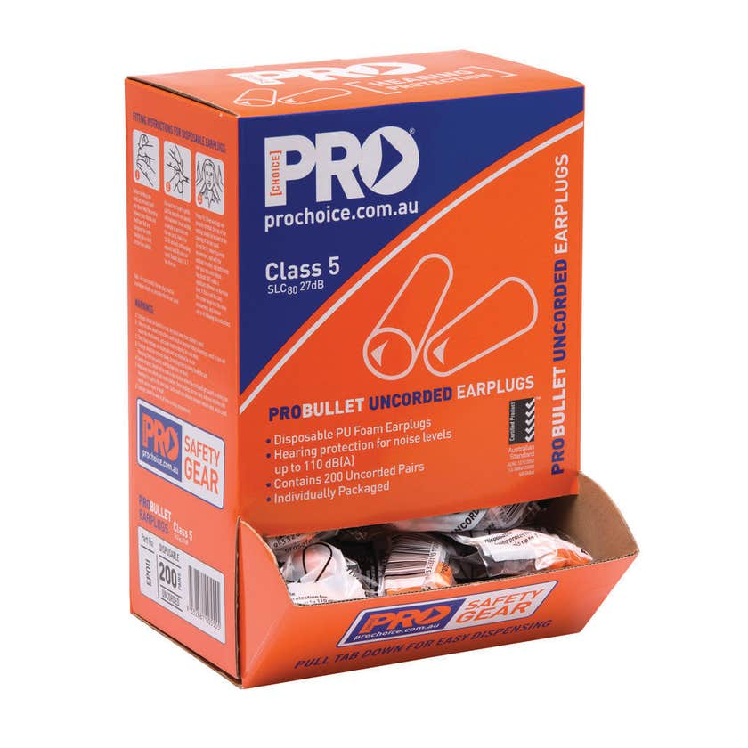 ProChoice Probullet Disposable Earplugs - 200 Pack