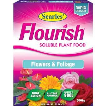 Searles Flourish Soluble Plant Food Flowers and Foliage 500g