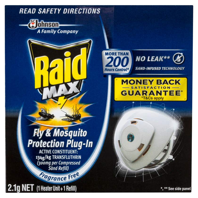 Raid Max Fly & Mosquito Protection Plug-In 2.1g