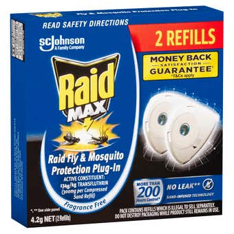 Raid MAX Fly & Mosquito Indoor Protection Plug In Refill 4.2g