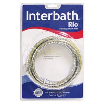 Interbath Rio Flexible Stainless Steel Hose Chrome