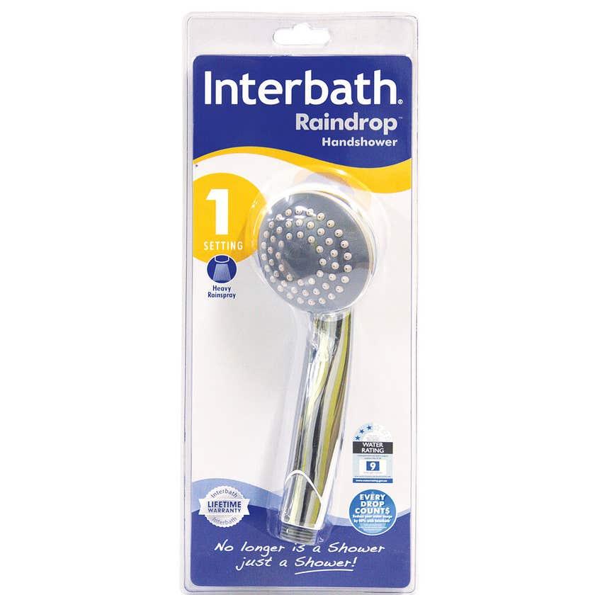 Interbath Raindrop Single Function Handshower Chrome