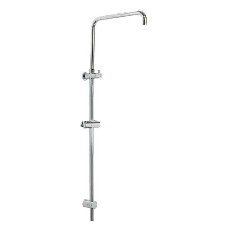 Interbath Rio 2-in-1 Adjustable Shower Pole Chrome 1100mm
