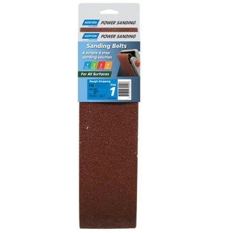 Norton Cloth Sanding Belt 100 x 610mm P40 Grit - 2 Pk