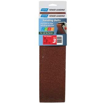 Norton Cloth Sanding Belt 100 x 610mm P80 Grit - 2 Pk