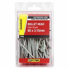 Otter Nail Bullet head Galvanised 65x3.15mm (500G)