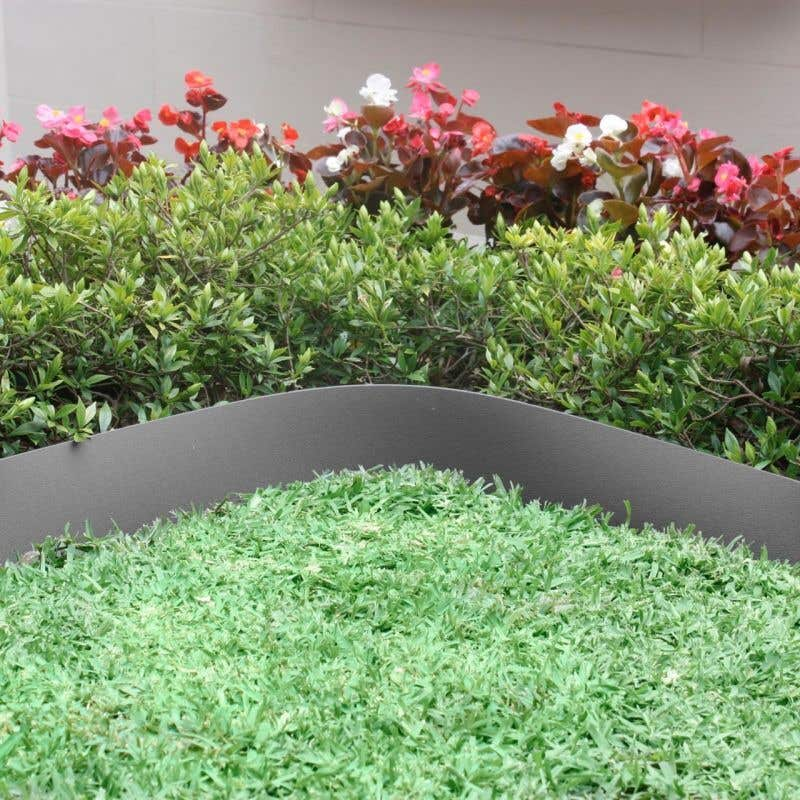 Greenlife Garden Edging Plastic Slate Grey 10m x 75mm