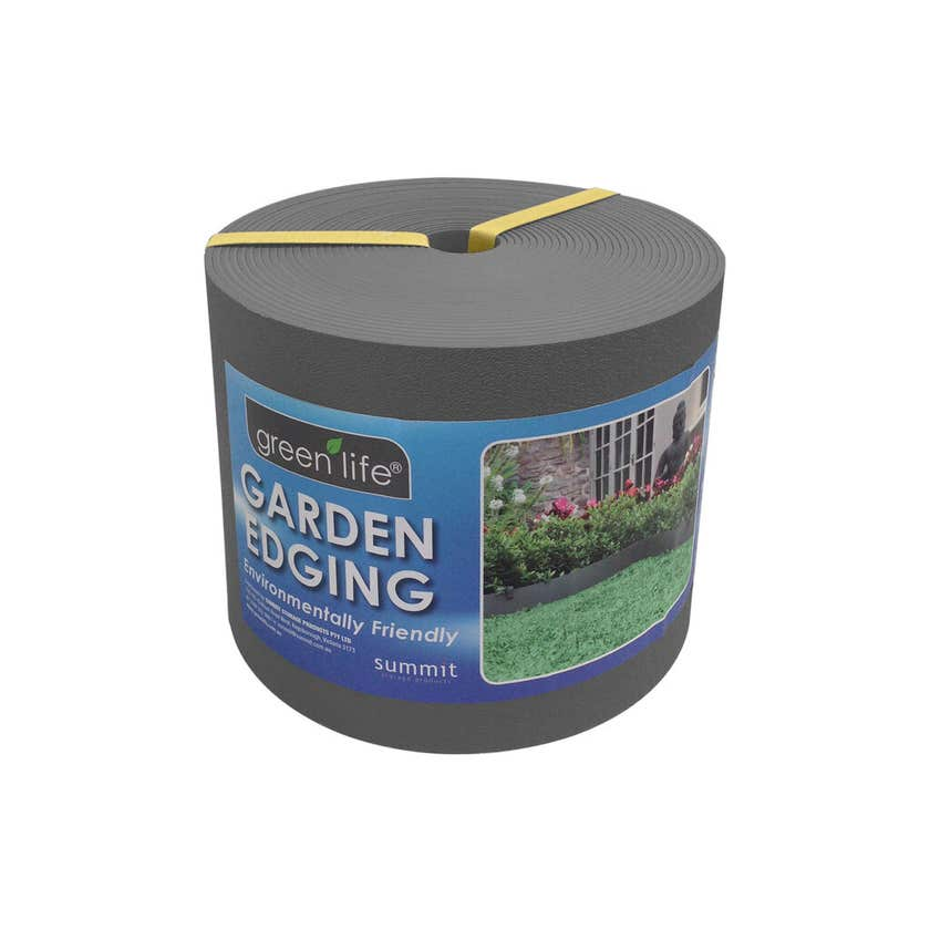 Greenlife Plastic Garden Edging Slate Grey 150mm x 10m