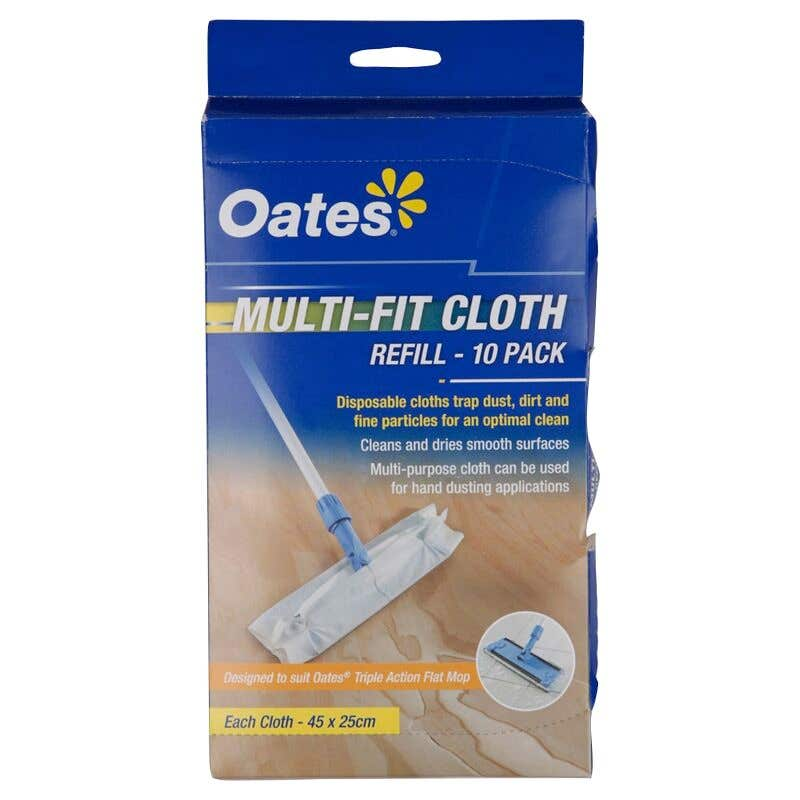 Oates Cloth Refill Multifit 10 Pack