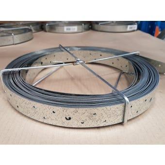 Wilmaplex Hoop Iron 30mm x 1.0mm x 15m Punched