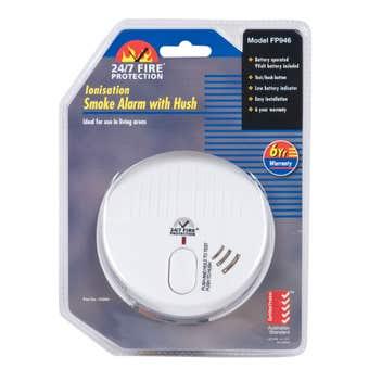Ionisation Smoke Alarm with Hush