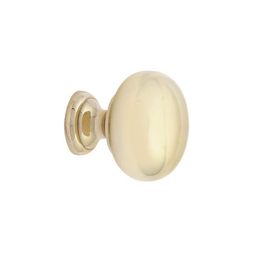 Prestige Round Knob Polished Brass 32mm