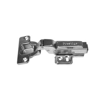 Prestige Cabinet Hinge Clip On Fitting Soft Close Full Overlay Nickel Plated - 2 Pack
