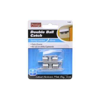 Prestige Double Ball Catch Satin Chrome Plated 49mm