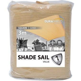Durashield Square Shade Sail Value Sand 3m