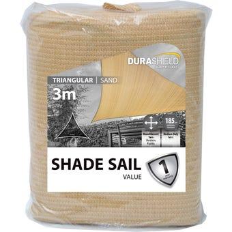 Durashield Triangle Value Shadesail Sand 3m