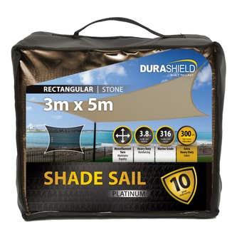 Durashield Shade Sail Platinum Stone 3 x 5m