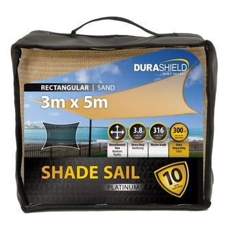 Durashield Shade Sail Platinum Sand 3 x 5m