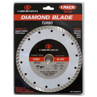 Carborundum Blade Diamond Turbo 180 x 25.4/22mm