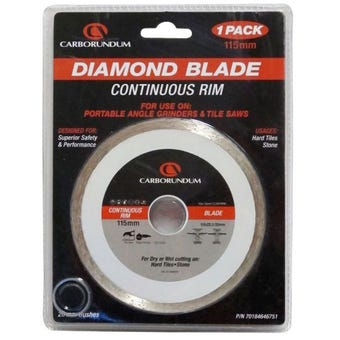 Carborundum Continuous Rim Diamond Blade 115 x 22/20mm