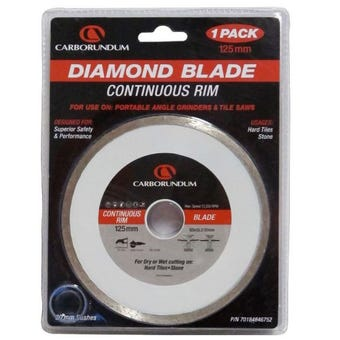 Carborundum Continuous Rim Diamond Blade 125mm