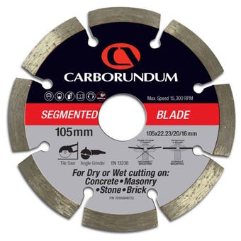 Carborundum Segmented Diamond Blade 105 x 22/20/16mm