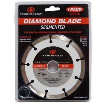 Carborundum Segmented Diamond Blade 125 x 22/20mm