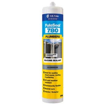 H.B. Fuller FulaSeal 780 Plumbers Silicone Aluminium 300g