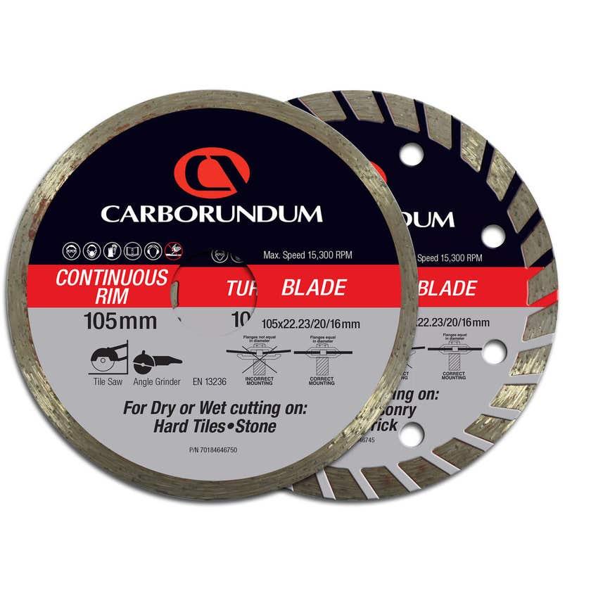 Carborundum Diamond Blade 105 x 22mm - 2 Pk