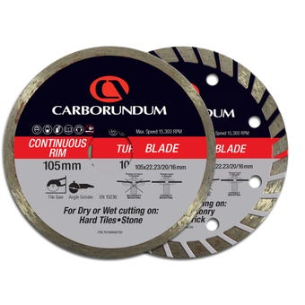 Carborundum Diamond Blade 105 x 22mm - 2 Pk