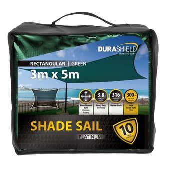 Durashield Shadesail Platinum Green 3 x 5m