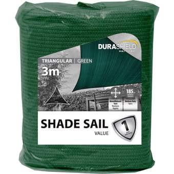 Durashield Triangle Shade Sail Value Green 3m