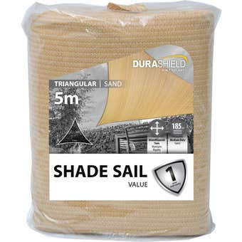 Durashield Triangle Shade Sail Value Sand 5m