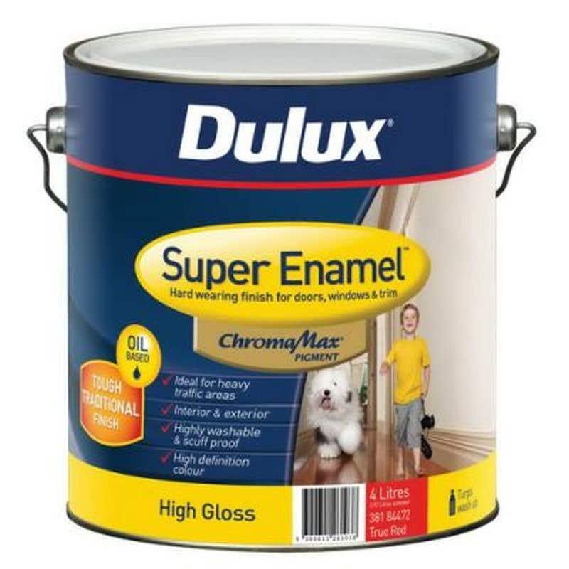 Dulux Super Enamel High Gloss True Red Base 4L