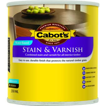 Cabot's Stain & Varnish Water Based Satin Tint Base 250ml