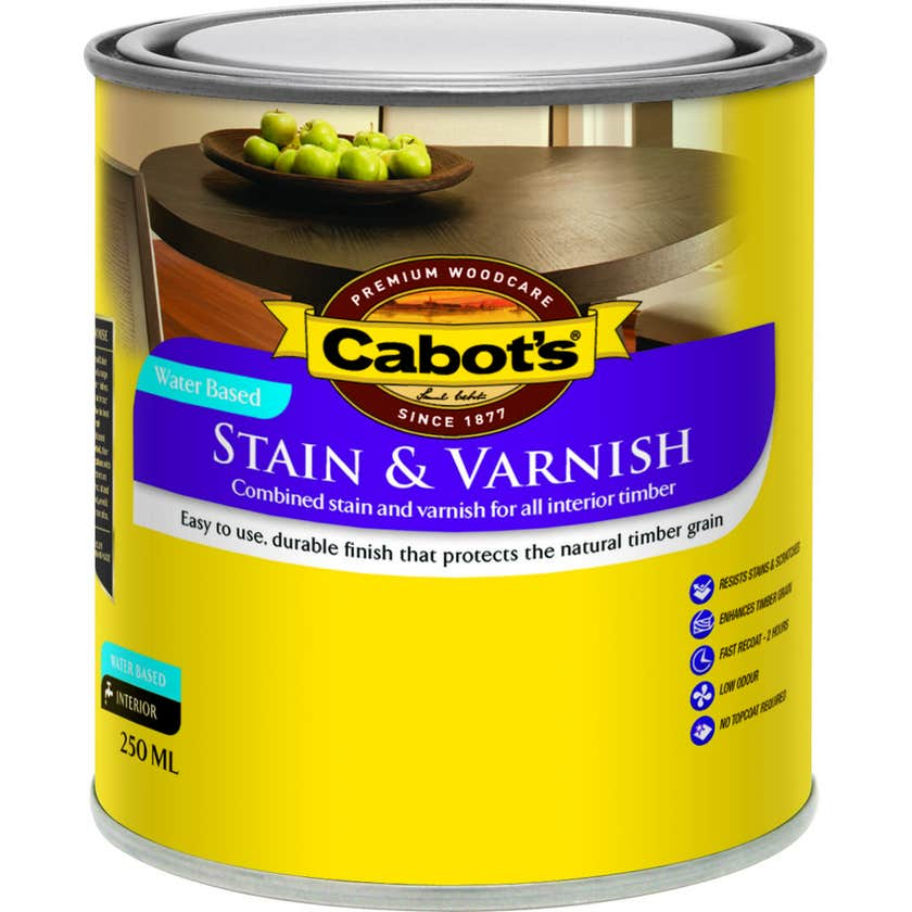 Cabot's Stain & Varnish Water Based Maple Satin 250ml