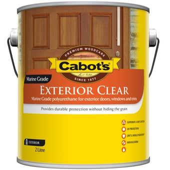Cabot's Exterior Satin Clear 2L