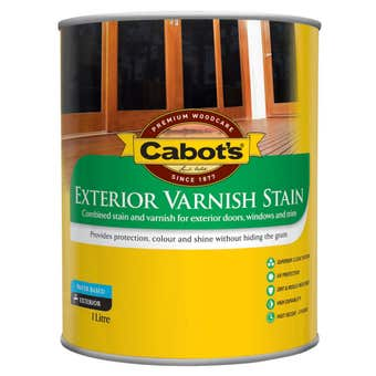 Cabot's Exterior Varnish Stain Clear Tint Base 1L