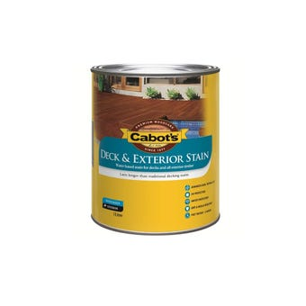 Cabot's Deck & Exterior Stain Water Based October Brown 1l