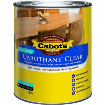 Cabot's Cabothane Clear Water Based Satin 1L
