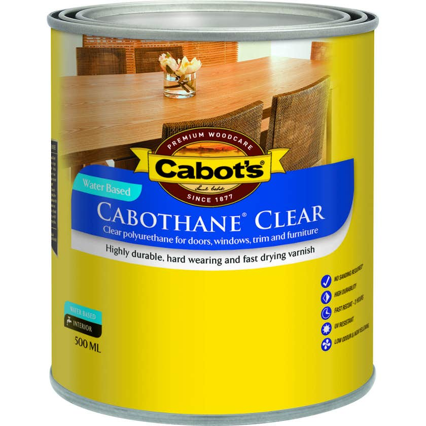 Cabot's Cabothane Water Based Satin Clear 500ml
