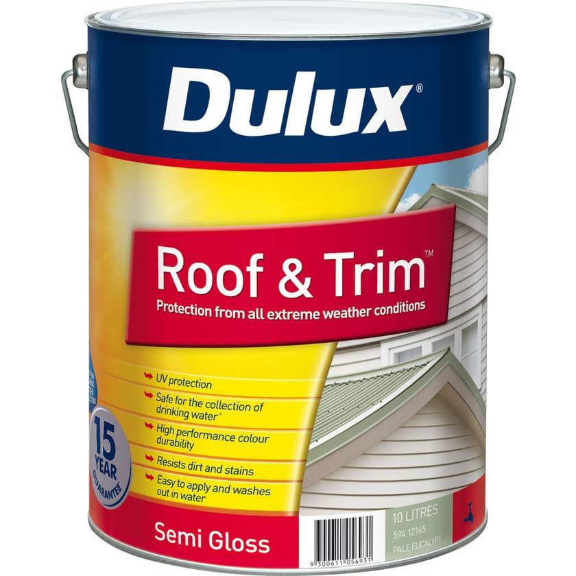 Dulux Weathershield Roof And Trim Semi Gloss Pale Eucalyptus 10L