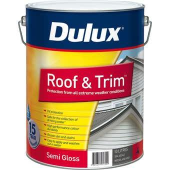 Dulux Weathershield Roof And Trim Semi Gloss Woodland Grey 10L