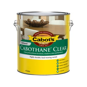 Cabot's Cabothane Clear Oil Based Satin 4L